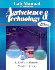 Cover of: Lab Manual to Accompany Agriscience & Technology | Walter York