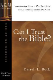 Cover of: Can I Trust the Bible?