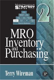 Cover of: MRO Inventory and Purchasing (Maintenance Strategy Series)