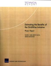 Cover of: Estimating the Benefits of the GridWise Initiative