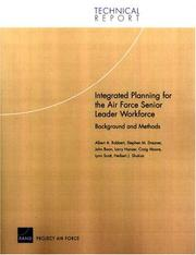 Cover of: Integrated Planning for the Air Force Senior Leader Workforce
