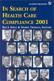 Cover of: In search of health care compliance 2001