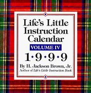Cover of: Cal 99 Life's Little Instruction Calendar (Life's Little Instruction Book Series , Vol 4)