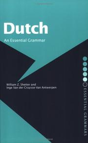 Cover of: Dutch | W. Shetter