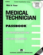 Cover of: Medical Technician | Jack Rudman
