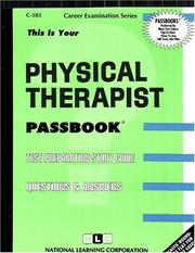 Cover of: Physical Therapist | Jack Rudman