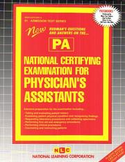 Cover of: National Certifying Examination for Physician