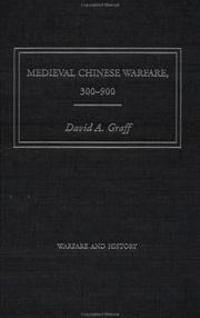 Cover of: Medieval Chinese Warfare, 300-900 (Warfare and History)