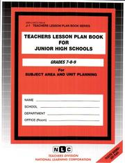 Cover of: Teachers Lesson Plan Book For Junior High Schools by
