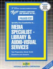 Cover of: PRAXIS/CST Media Specialist - Library & Audio-Visual Services (Library Media Specialist) (National Teachers Examination Series, Nt 29) |