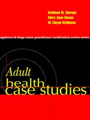Cover of: Adult Health Case Studies | Kathleen Moriarty Shurpin