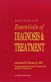Cover of: Pocket Guide to Essentials of Diagnosis & Treatment | Lawrence M. Tierney
