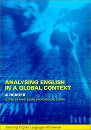 Cover of: Analyzing English in a Global Context by Anne Burns