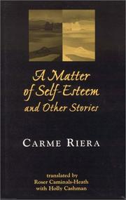 Cover of: A Matter of Self-Esteem and Other Stories