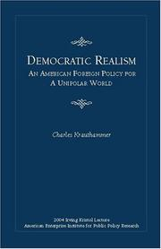 Cover of: Democratic Realism