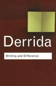Cover of: Writing and Difference