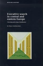Cover of: Executive Search in Central & Eastern Europe