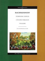Cover of: Rachmaninoff - Symphonic Dances, 5 Etudes Tableaux, Vocalise