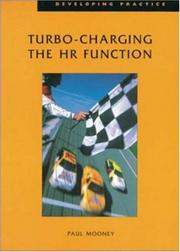 Cover of: Turbo-charging the HR Function (Developing Practice)