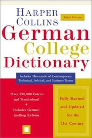Cover of: HarperCollins German College Dictionary 3rd Edition