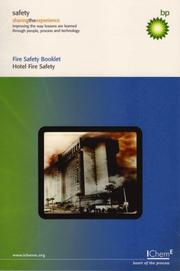 Cover of: Hotel Fire Safety - IChemE | BP Safety Group