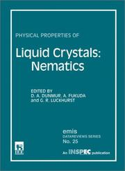 Cover of: Physical Properties of Liquid Crystals |