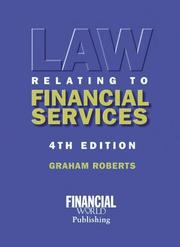 Cover of: Law Relating to Financial Services