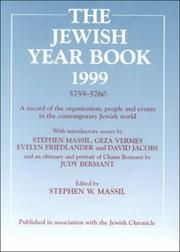 Cover of: The Jewish Year Book 1999