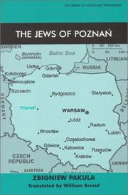 Cover of: The Jews of Poznan (The Library of Holocaust Testimonies) | Zbigniew Pakula