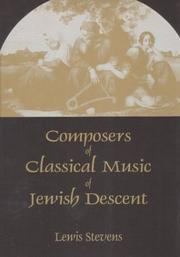 Cover of: Composers of Classical Music of Jewish Descent