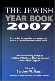 Cover of: The Jewish Year Book 2007