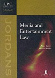 Cover of: Media and Entertainment Law 2002
