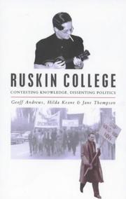 Cover of: Ruskin College |