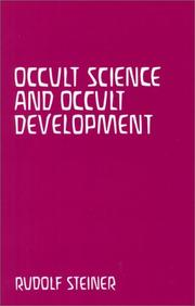 Cover of: Occult Science and Occult Development