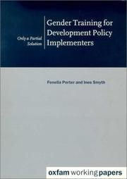 Cover of: Gender Training for Policy Implementers (Oxfam Working Papers Series) |