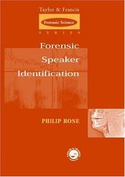 Cover of: Forensic Speaker Identification (Forensicscience)