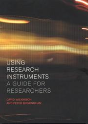 Cover of: Using Research Instruments