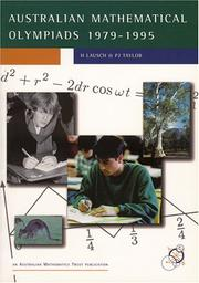 Cover of: Australian Mathematical Olympiads 1979-1995 (Enrichment Series, 12) |