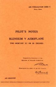 Cover of: Bristol Blenheim V  -Pilot