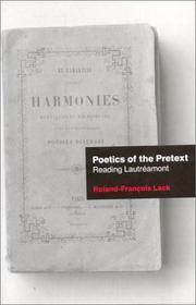 Cover of: Poetics Of The Pretext