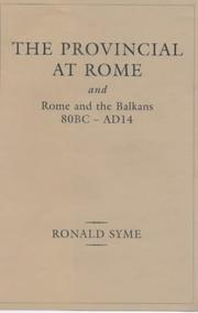 Cover of: The provincial at Rome