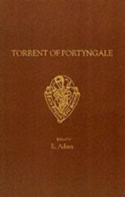 Cover of: Torrent of Portyngale (Early English Text Society Extra Series) | E. Adam