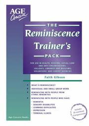 Cover of: The Reminiscence Trainer's Pack