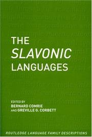 Cover of: The Slavonic Languages