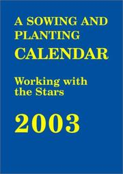 Cover of: The Sowing and Planting Calendar 2003 |