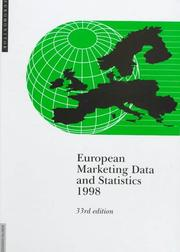 Cover of: European Marketing Data and Statistics 1998 (European Marketing Data and Statistics) | Euromonitor Publications
