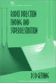 Cover of: Radio Direction Finding and Superresolution (Ieee Electromagnetic Waves Series) | P. J. D. Gething