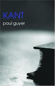 Cover of: Kant (Routledge Philosophers) | Paul Guyer