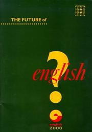 Cover of: The future of English?