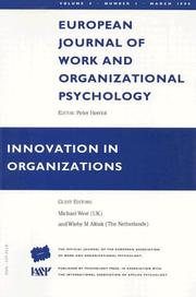 Cover of: Innovation In Organizations